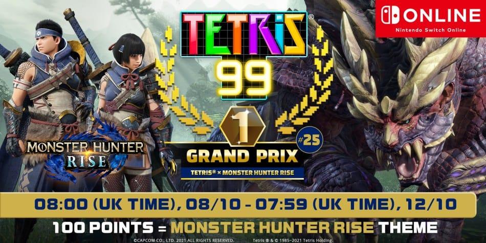 Tetris 99 Monster Hunter Rise