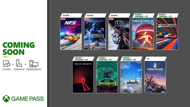 Xbox Game Pass Late August 2021