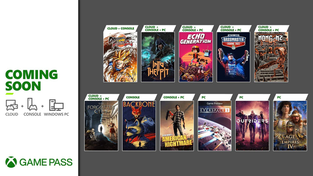 Xbox Game Pass Late October 2021