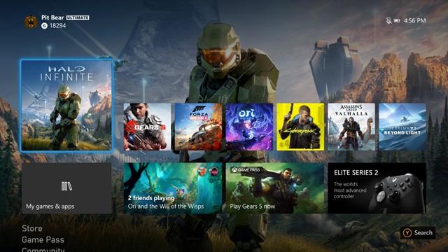 Xbox Series Dashboard